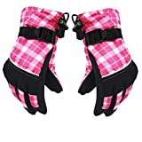 Aivtalk Kids Winter Warm Sports Outdoor Windproof Waterproof Ski Gloves-Pink