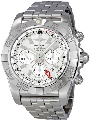 Breitling Men's AB041012/G719SS Silver Dial Chronomat GMT Watch