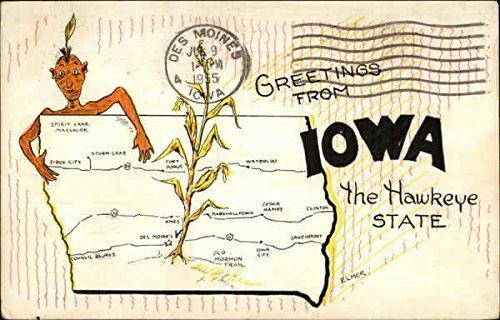 Iowa City Vintage Postcard