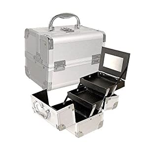 Click Here For Cheap Amazon.com: Seya Silver Mini Train Case With Mirror: Beauty For Sale