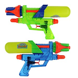These water guns look awfully familiar to an old-style vintage Nerf  Supermaxx 1500 don't they? :)
