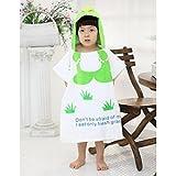 hibote beb� Impreso Terry toalla de ba�o de los ni�os Capa de Playa Mantas 0-7 A�os (verde del dinosaurio)