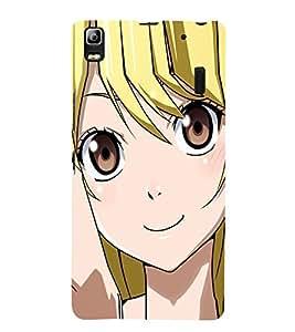 Cute Girl 3D Hard Polycarbonate Designer Back Case Cover for Lenovo A7000 :: Lenovo A7000 Plus :: Lenovo K3 Note