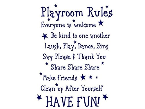 Playroom Rules Vinyl Wall Decal front-982704