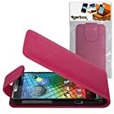 Tigerbox Leather Flip Wallet Case For Motorola RAZR i XT890 Mobile Phone - Pink