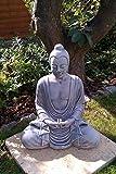 Ornate stone Large Serene Buddha ornament