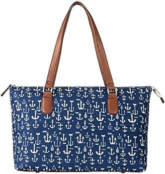 La Cle Fashion Printed Shopper Canvas Tote Bag