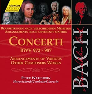 Bach: Concerti, BWV 972-987 - Arrangements Of Other Composers (Edition Bachakademie Vol 111)/Watchorn (Harpsicord)