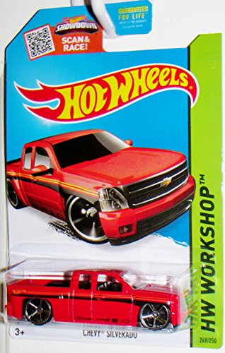 Hot Wheels, 2015 HW Workshop, Chevy Silverado [Red] Die-Cast Vehicle #249/250 (Hot Wheels Truck compare prices)
