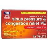 Rite Aid Nasal Decongestant PE, 72 ct.