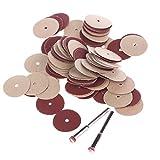 100Pcs 3mm Shank 20mm Sanding DIsc Pad For Dremel Foredom Rotary tools