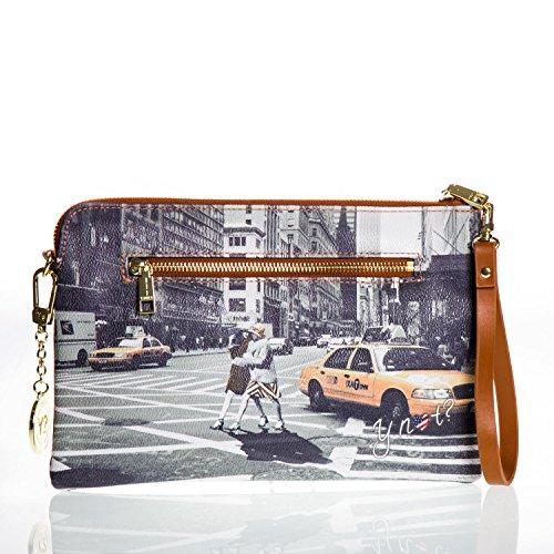 Borsa Pochette Y Not con manico e tracollina - G303 Walk in New York