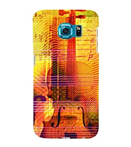 Music Strings 3D Hard Polycarbonate Designer Back Case Cover for Samsung Galaxy S6 :: Samsung Galaxy S6 G920