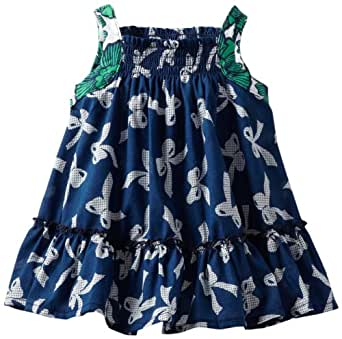 Maisonnette Baby Girls' Serena Sun Dress, Navy/Green, 18 Months