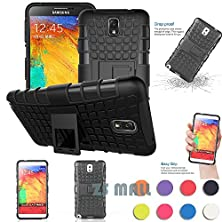 buy Note 3 Case,Galaxy Note 3 Case,[Perfect Fit] [Light Weight] Shock-Absorption / High Impact Resistant Hybrid Dual Layer Protective Case Cover With Kickstand For Samsung Galaxy Note 3 Iii N9000 (Black)