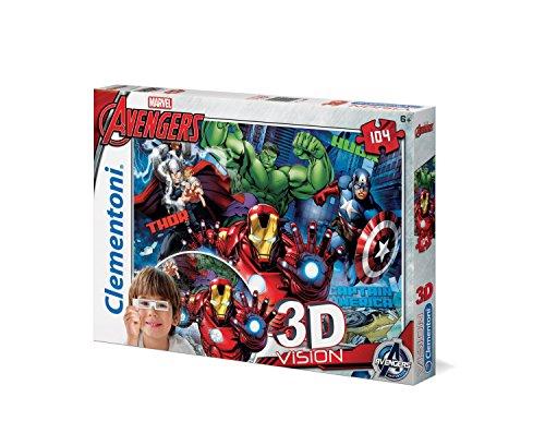 Clementoni 20606 - Avengers Visione 3D Puzzle, 104 Pezzi