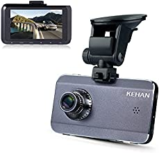 "KEHAN KH905-70VP Super HD 2560*1080 2304*1296 Car DVR Dash Cam Dashboard Camcorder Camera Video Recorder Black Box 175 Degree Super Wide Diagonal Viewing Angle 3.0"" LCD Screen Ambarella A7LA70+OV4689 w/ GPS Logger with G-Sensor HDR Nightvision Motion Detection 6-Glass Lens +64GB Memory Card"