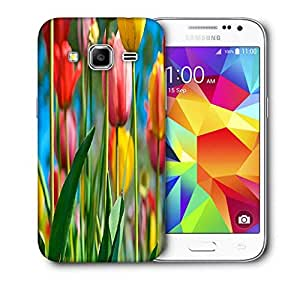 Snoogg Colorful Roses Printed Protective Phone Back Case Cover For Samsung Galaxy Core Plus G3500