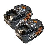 Ridgid (2 Pack) 18-Volt Lithium Ion 4-Amp/Hour Pack R840087 # 130218009-2pk