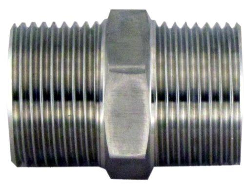 "Hex Nipple 1/2"" Male Npt Stainless Steel Pipe Fitting 0.5"""