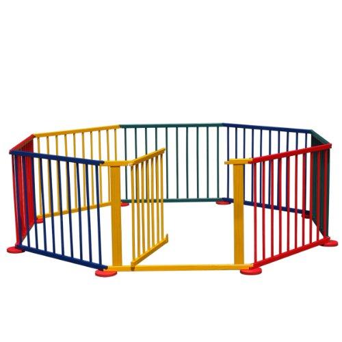 BABY VIVO, Box giochi per bambini 7,2 m, con cancelletto, Multicolore (Bunt)