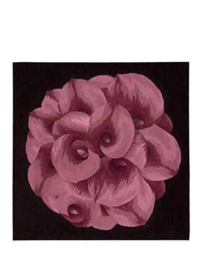 Nourison Flower Art Rug, Purple, 3' Square
