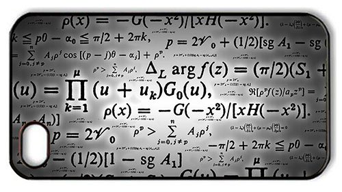 Hipster Iphone 4 Free Shipping Cover Calculation Formulae Pc Black For Apple Iphone 4/4S front-888355