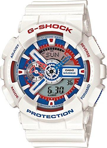 Casio - G-Shock - Tricolour Maritime Series - GA110TR-7A - White/Blue/Red Resin watch - World Time