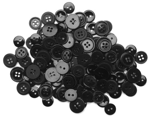 Read About Blumenthal Lansing Favorite Findings Basic Buttons Assorted Sizes, 130/Pkg, Black