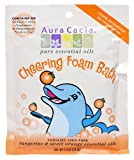 Aura Cacia Aromatherapy Foam Bath, Cheering with Tangerine and Sweet Orange, 2.5 ounce packet (Pack of 6)