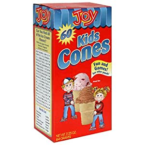 Joy Kids Cones, 60-Count Boxes (Pack of 12)