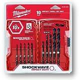 Milwaukee 48-89-4445 10-Piece Shockwave Impact Drill Bit Set
