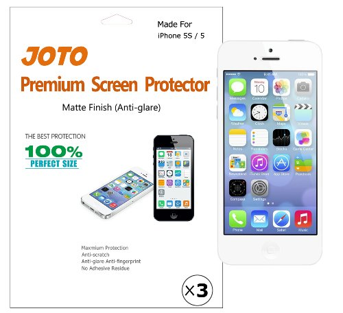 Best Prices! JOTO Premium Screen Protector Film for Apple iPhone 5S / iPhone 5, Anti Glare, Anti Fin...