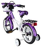 Bikestar 12 inch (30.5 cm) Kids Childrens Girls Bike Bicycle Classic - Lilac & White