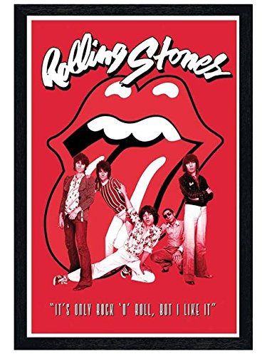 music-black-wooden-framed-the-rolling-stones-its-only-rock-roll-maxi-poster-61x915cm