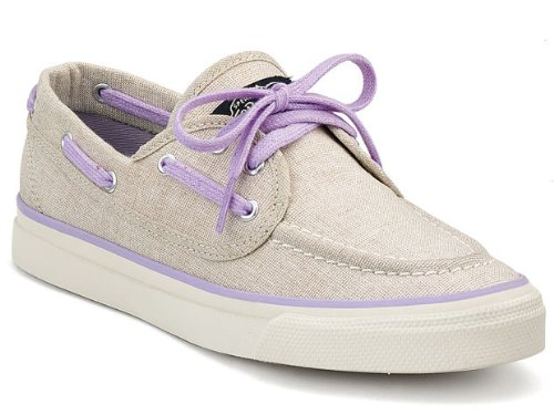 Sperry Seamate 2-Eye Silver Sparkle 8.5 Womens Shoes