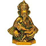 Exotic India Bhagawan Ganesha - Brass Statue - B00QZ4S4YE
