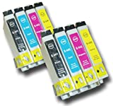 The Ink Squid 2 Sets Of T0441/T0442/T0443/T0444 (T0445) High Capacity Compatible 'Parasol' Ink Cartridges For Epson Stylus Cx3650 Printer