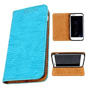 i-KitPit PU Leather Flip Case For Karbonn S1 Titanium (SKY BLUE)