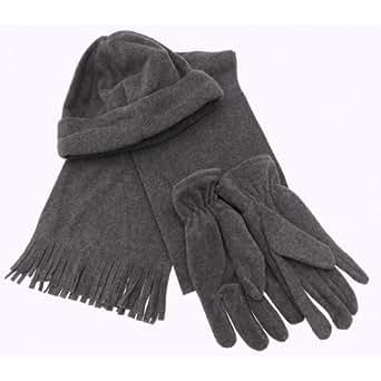 Amazon.com: Mens Winter Fleece Hat, Gloves & Scarf Set