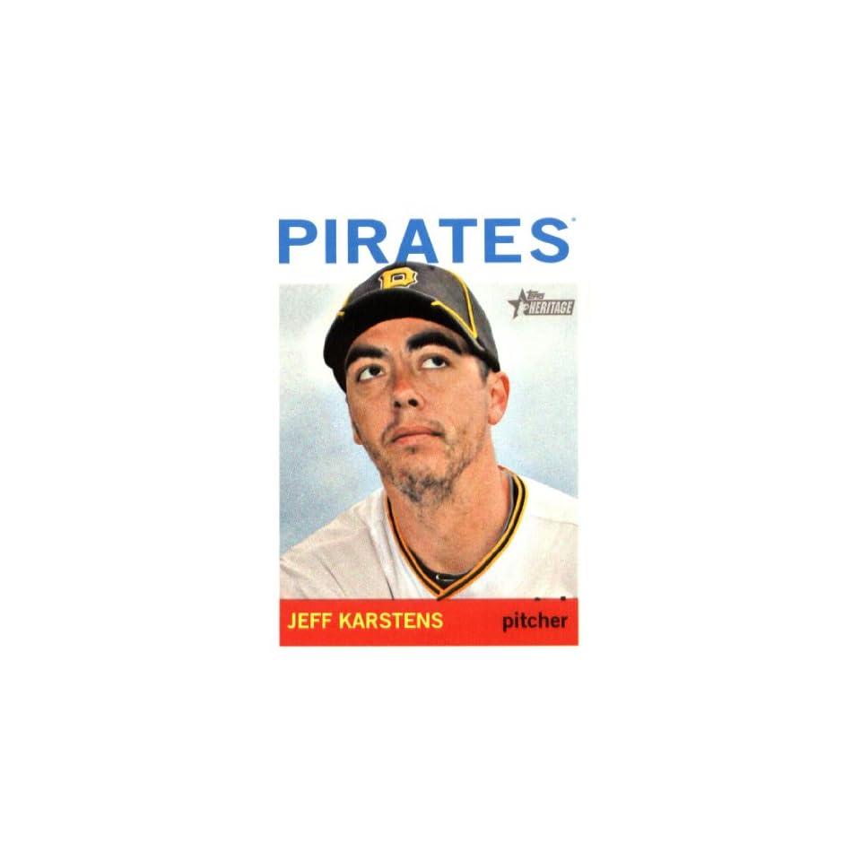 2013 Topps Heritage Baseball Card IN SCREWDOWN CASE #396 Jeff Karstens ENCASED