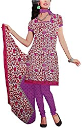 Majaajan Women's Cotton Self Print Unstitched Salwar Suit Dress Material (BNSL0650PPL, Purple, Freesize)