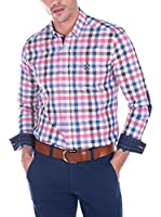 SIR RAYMOND TAILOR Camisa Hombre Bite (Blanco / Rosa)