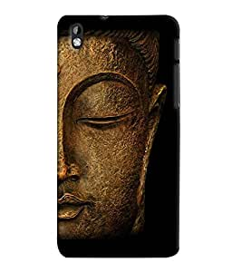 Fuson 3D Printed Lord Buddha Designer Back Case Cover for HTC Desire 816 - D561