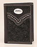 Nocona Men's Floral Embossed Concho Trifold Wallet