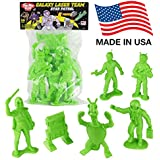 Tim Mee Jumbo Galaxy Laser Team Space Figures: Bright Green pc Set -Made in USA!