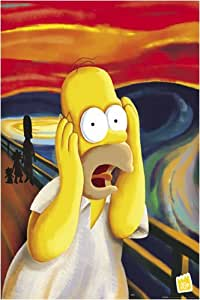Poster Simpsons Homer Simpson Scream Edward Munch Edvard Munch Der Schrei Scream - Maxiposter - Größe 61 x 91,5 cm