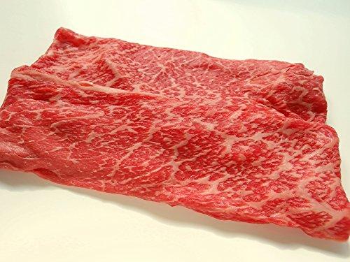厳選 【 黒毛和牛 最高A5 ランク 雌牛限定 】 ギフト用 モモ バラ上牛 すき焼き肉 1Kg ( 天然 竹皮 包装 )