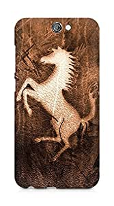 Amez designer printed 3d premium high quality back case cover for HTC One A9 (Character horse mustang)