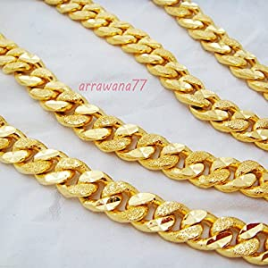 Amazon.com: Men's Deluxe Chain 22k 23k 24k Thai Baht Gold